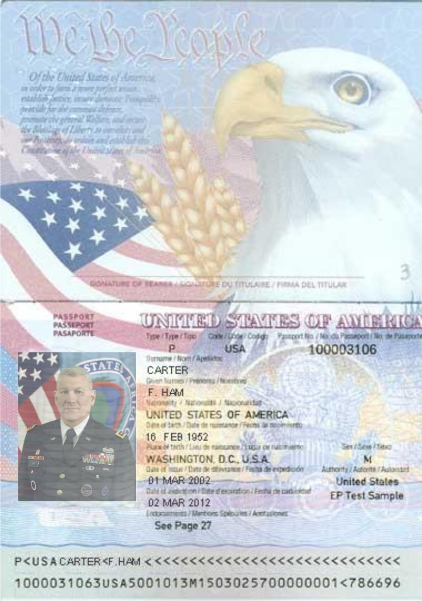 Gen. Carter Ham-Passport