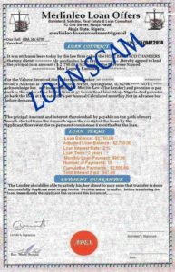 Loan Scam Documents