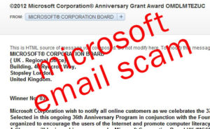 Microsoft Email Scam