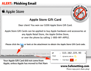 Credit Card Email Scam Examples