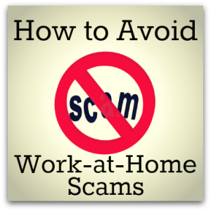 avoid work at home scam
