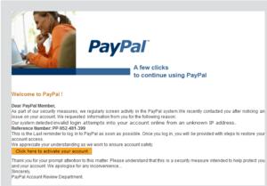 PayPal Account Notice Phishing