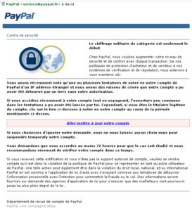 Email Scam: Attention! Votre compte PayPal a ete limite !