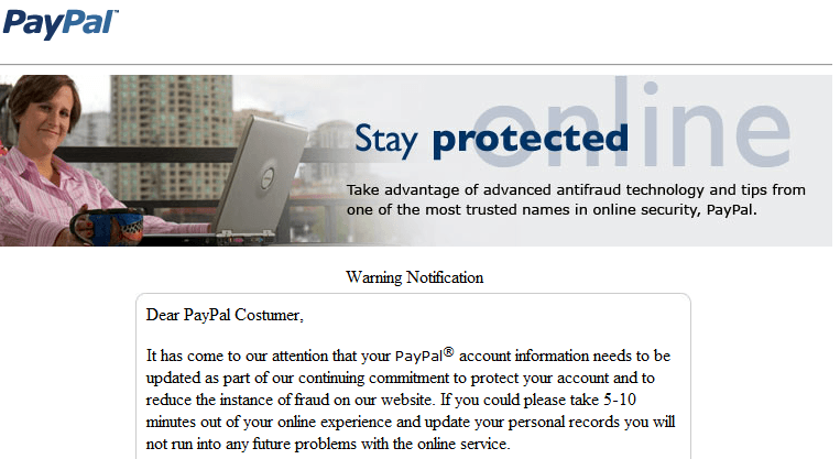 Paypal Email Account