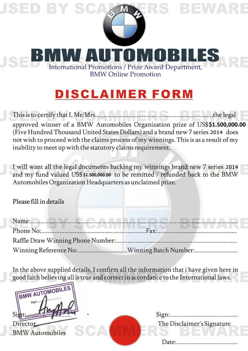 BMW-Lottery-Department