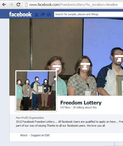 Email Scam: FACEBOOK LOTTERY PROMOTION
