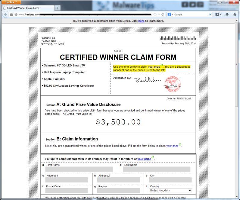 freelotto-scam