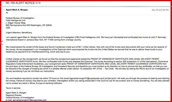 FBI Email Scam
